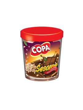 تصویر از شکلات صبحانه کنجدی شیشه ای 220g کوپا - شرینک 6 عددی